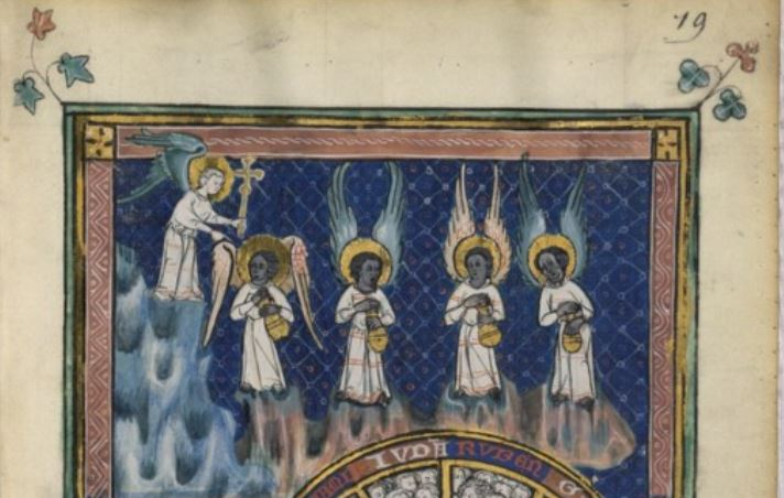 Apocalypse de S. Jean detail 14e eeuw