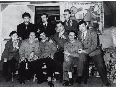 De Experimentele groep 1948 uit Cobra aan de gracht, collectie Ambassade Hotel