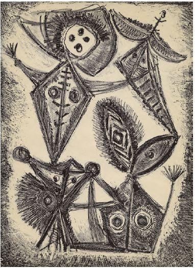 Litho van Rooskens uit Reflex nr 2 1949