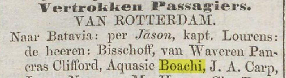 1857 23 10 Nieuw Amsterdam Boachi vertrek Rotterdam