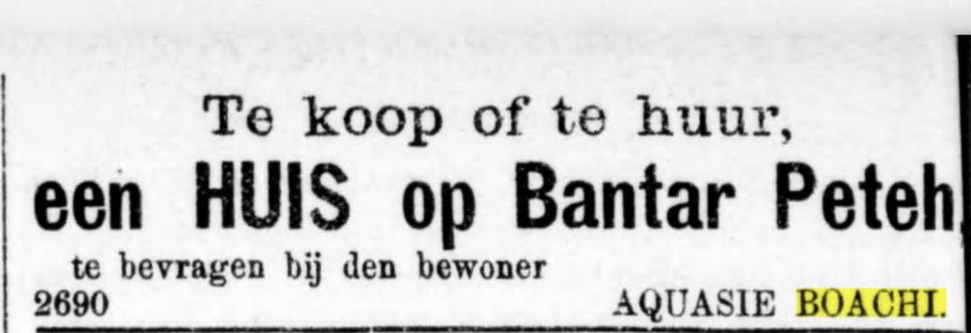Advertentie in Bataviaansch nieuwblad 27-8-1887
