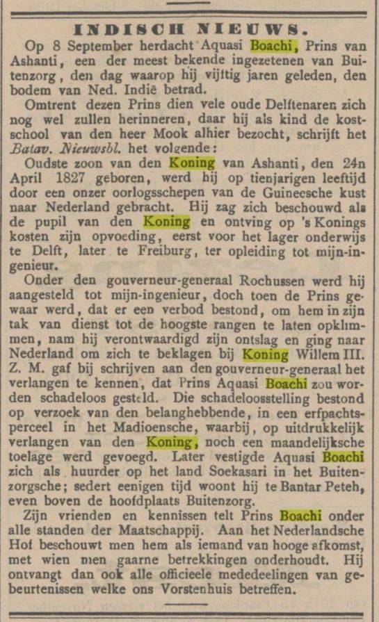 1900 Aquasi en het koningshusi