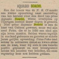 Schatgraven: Aquasi Boachi in kunst en kranten