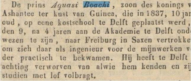 Aquasi Boachi krant delft