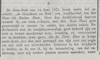 reactie Boachi 1871 deel 1