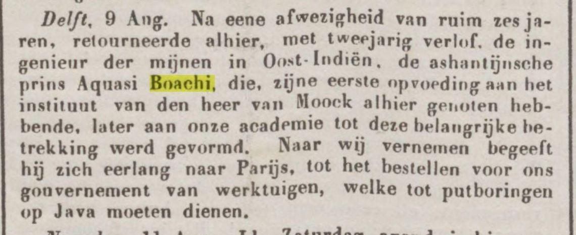 Verlof Boachi 1756Java Bode 8 11 1856