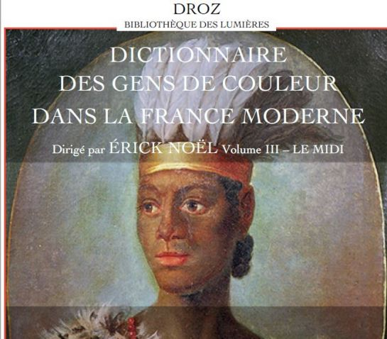 Dictionnaire des Gens de couleur Erick Noel