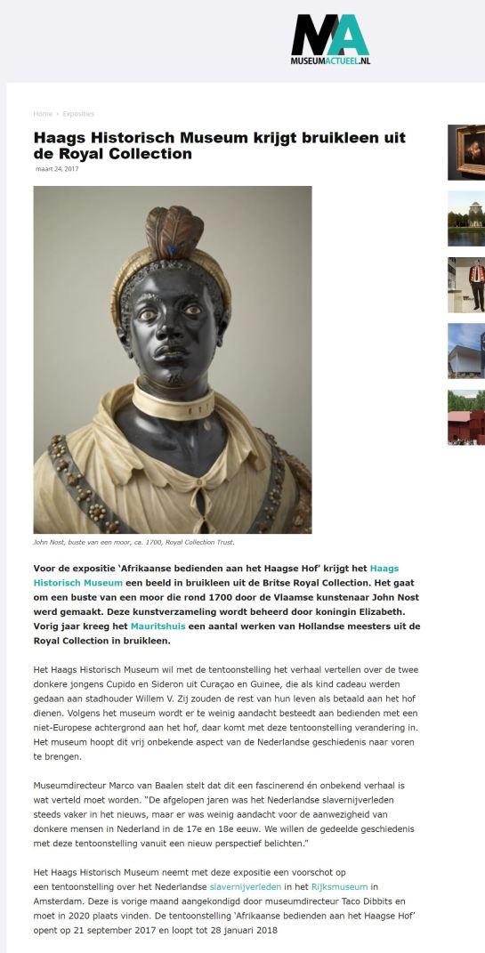 Museum actueel 24 maart 2017 royal collection Haags Historisch
