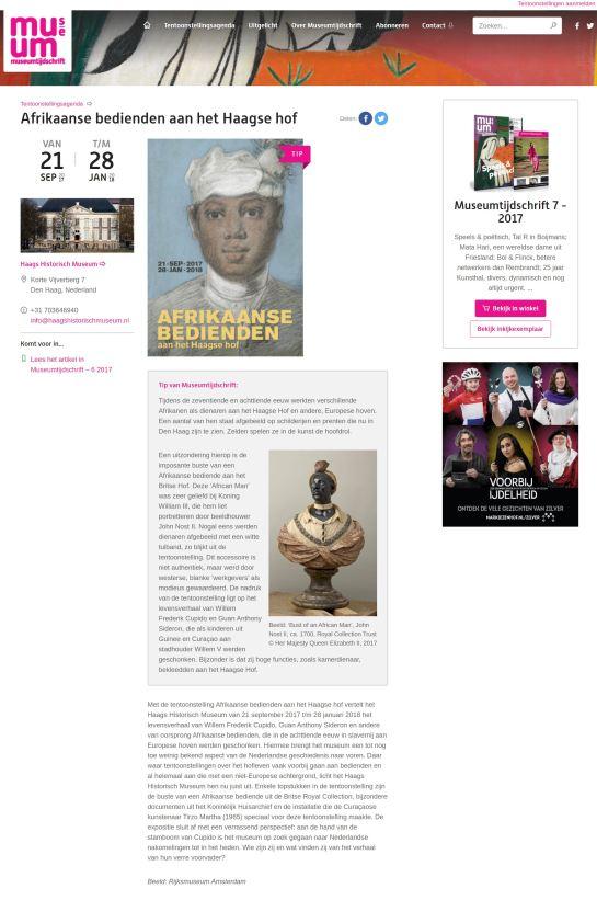 Museum tijdschrift tip pers