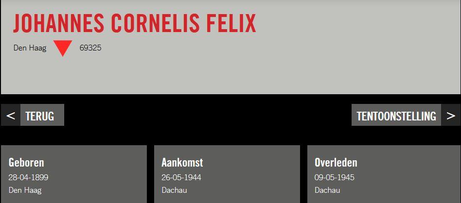 Geen nummers maar namen Felix