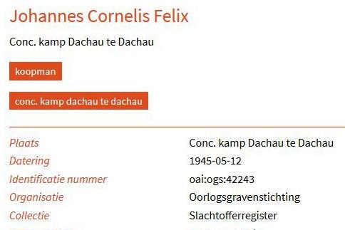 Johannes Cornelis Felix Dachau