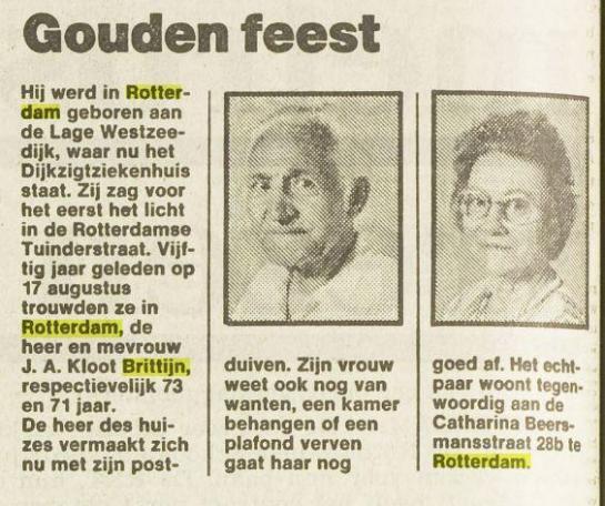 Wilhelmina Brittijn en Kloot
