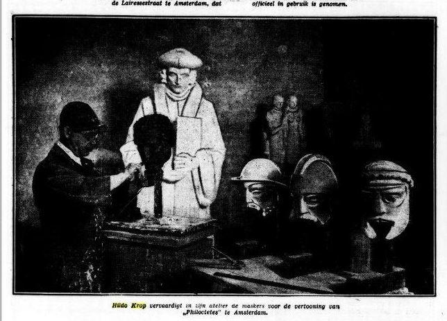 Hildo Krop maskers 1933