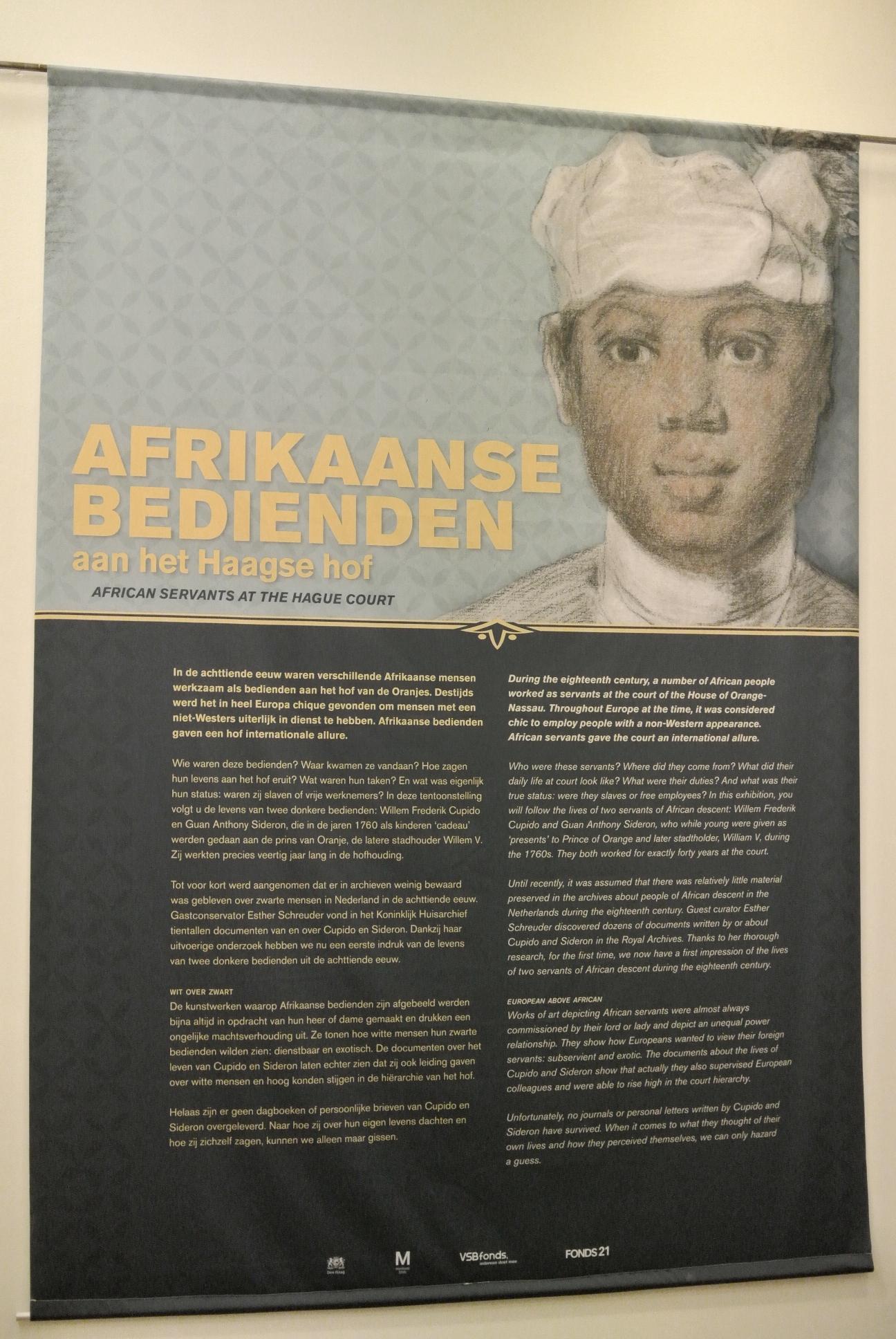 Afrikaanse bedienden aan het Haagse Hof