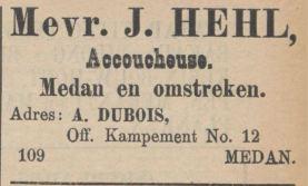 Hehl Dubois Medan 1906