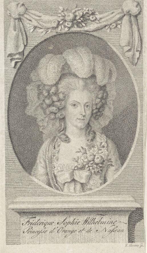 Portret van Wilhelmina van Pruisen, Eberhard Siegfried Henne, 1767 - 1849 coll Rijksmuseum
