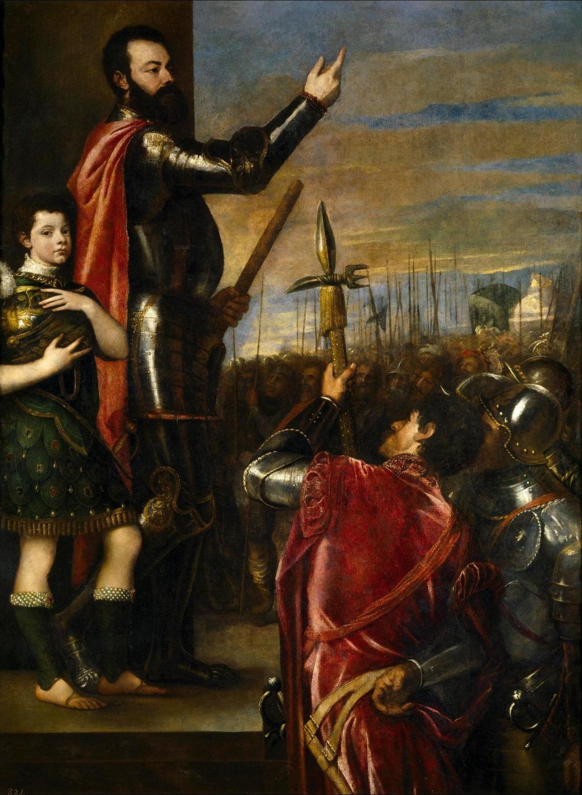 Titian_(Tiziano_Vecellio)-_Alfonso_di'Avalos_Addressing_his_Troops