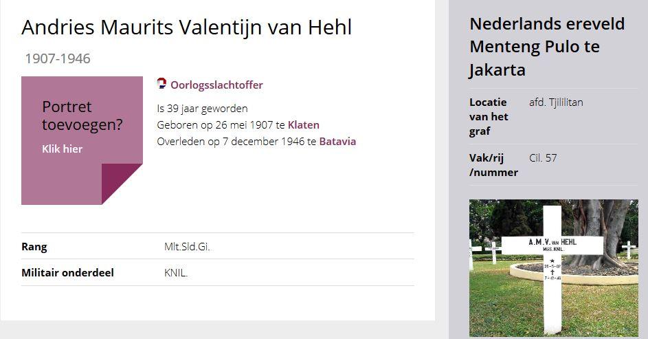 Andries Maurits Valentijn Hehl