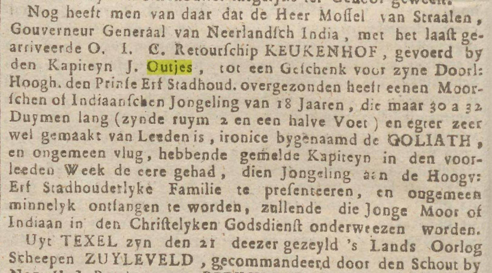 27 6 1755 Opregte Groninger courant Keukenhof Outjes Dwerg n