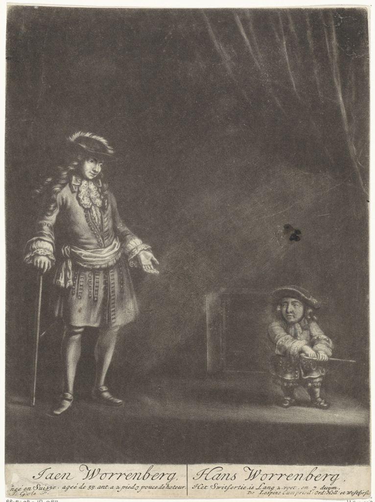 Portret van Hans Worrenbergh, Jacob Gole, 1688 - 1696