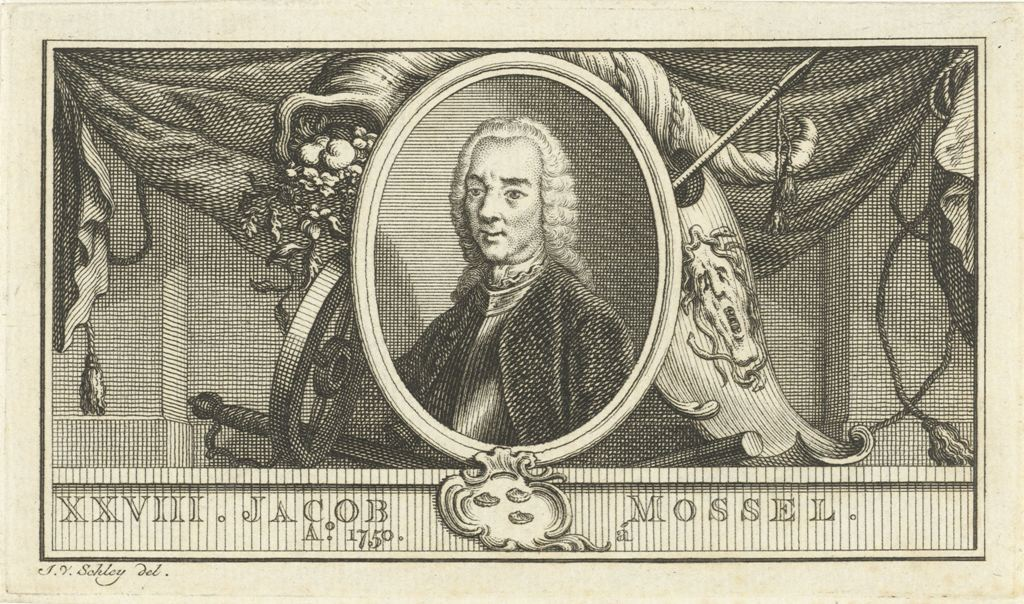 Portret van Jacob Mossel, Jacob van der Schley, 1763