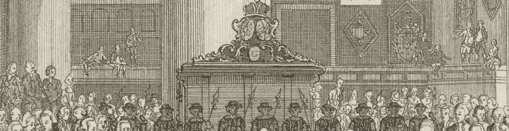 1772 Doop Willem Frederik prins van Oranje Nassau Grote Kerk detail