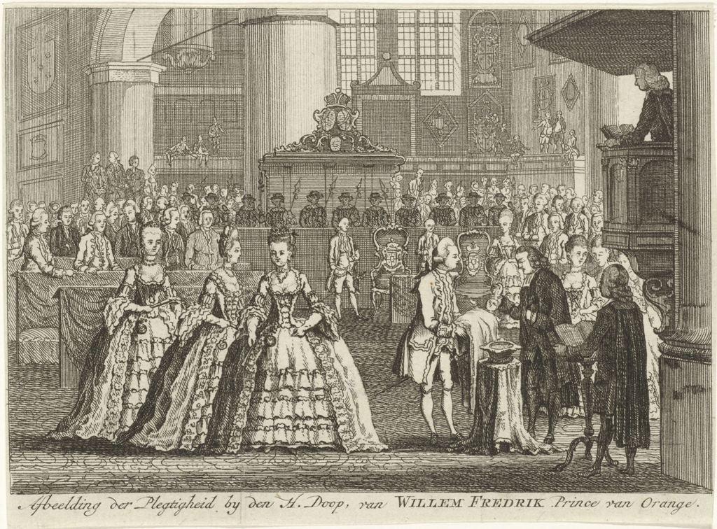 1772 Doop Willem Frederik prins van Oranje Nassau Grote Kerk RP-P-OB-84.819