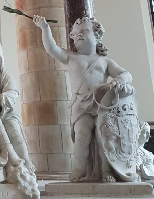 Familiewapen Van Wassenaer Bartholomeus Eggers, Grote Kerk Den Haag