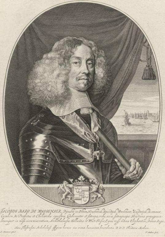Portret van Jacob baron van Wassenaer heer van Obdam, Theodor Matham, naar Adriaen Hanneman, 1658 - 1676