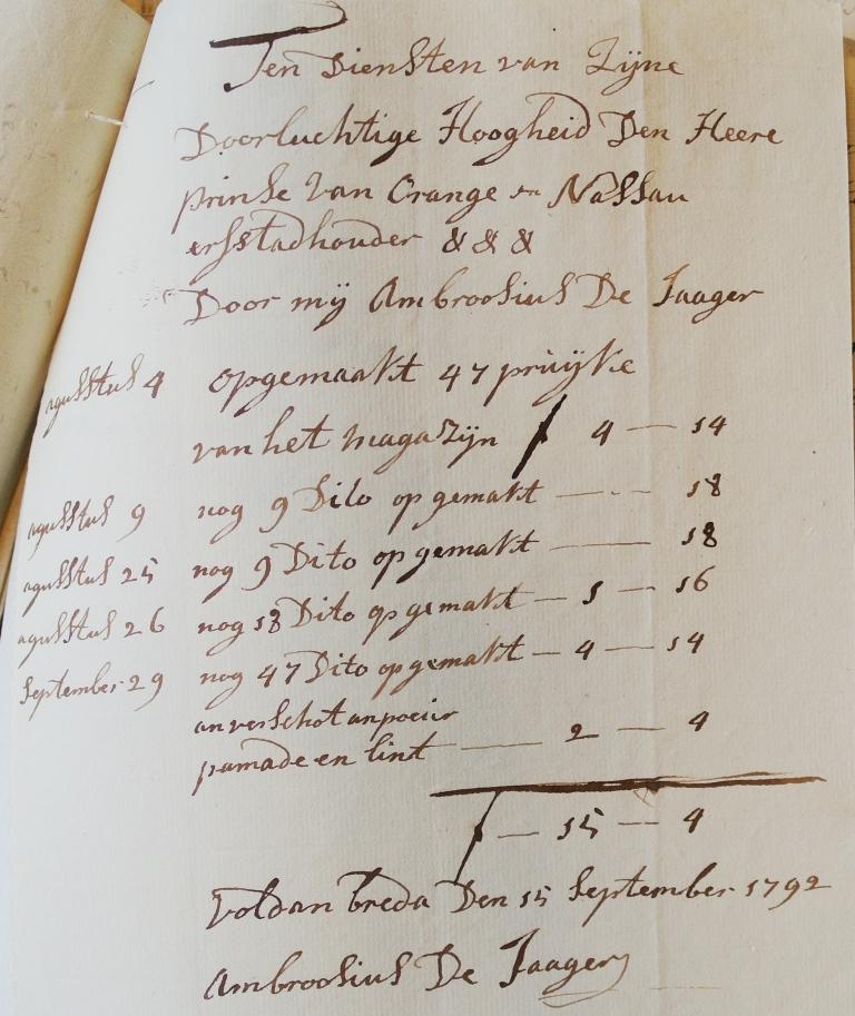 Ambrosius de Jager en pruiken. Collectie Koninklijke Verzamelingen