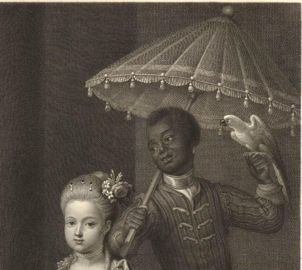 detail naar Antoine Pesne Frederik de Grote en Wilhelmina van Pruisen British Museum