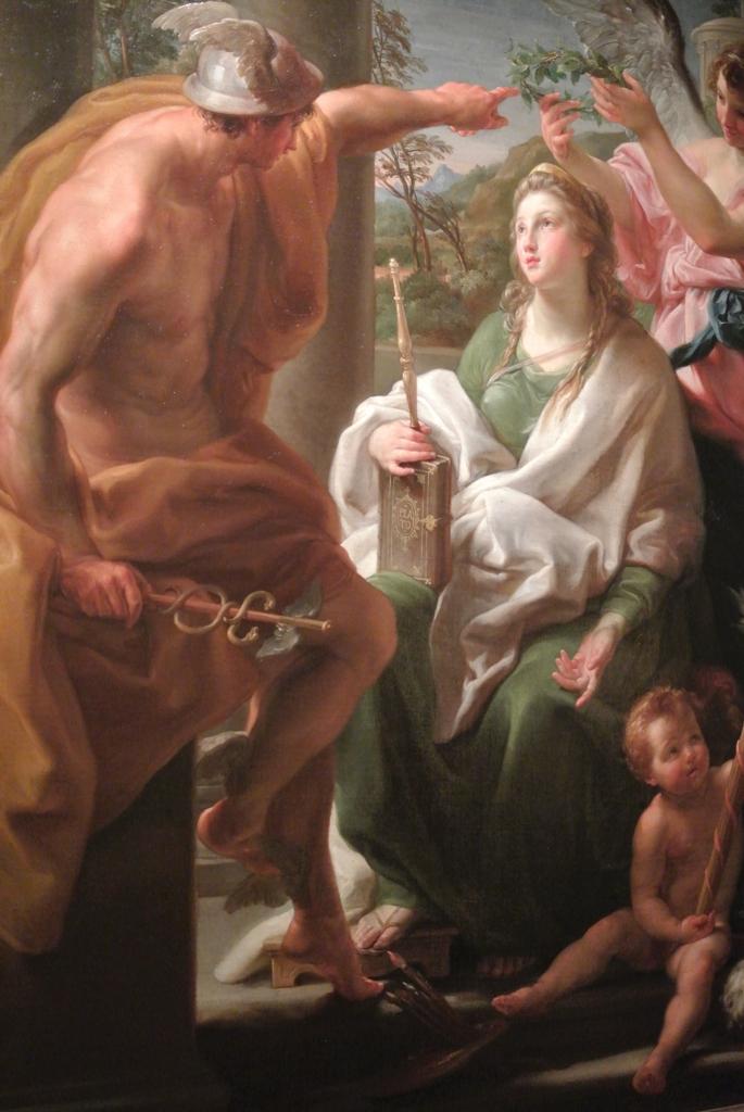 "Pompeo Batoni, Mercury Crowing Philosophy, ""Mother""of the Arts"