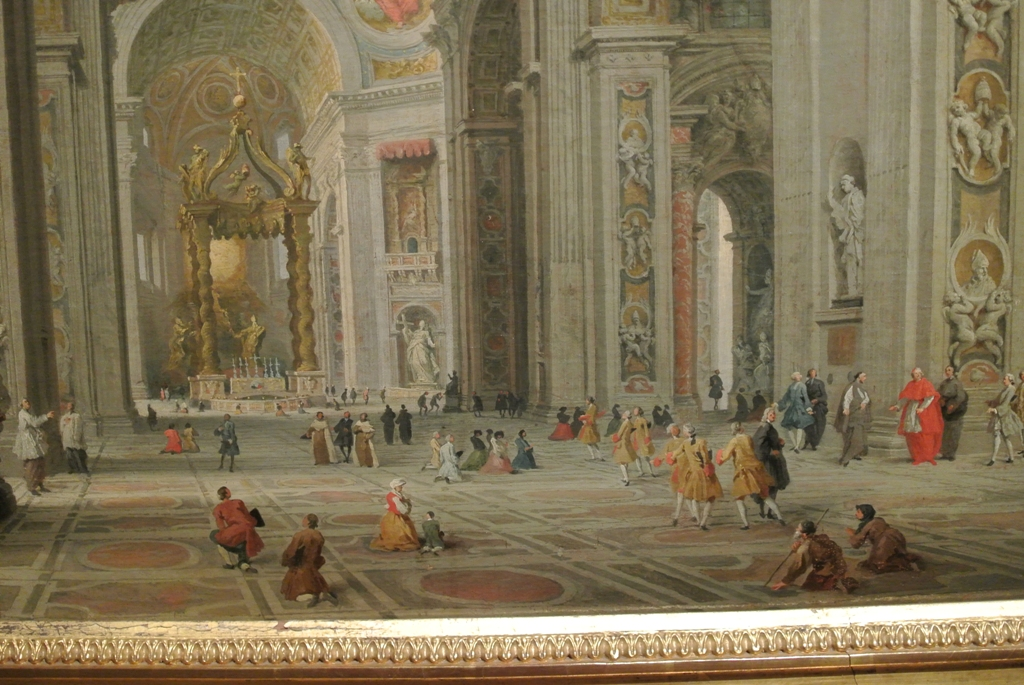 Giovanni Paolo Panini, interior of St Peter's in Rome