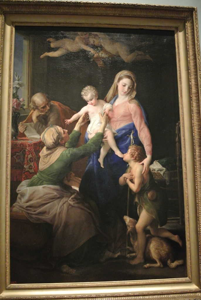 Pompei Batoni, The Holy Family with Sts Elizabeth and John the Baptist