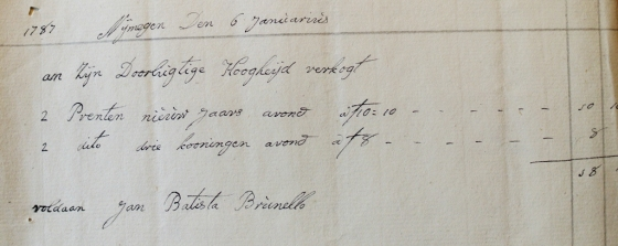 6 januari prenten drie koningen en nieuwjaarsavond 1787 Koninklijke Verzamelingen (c)