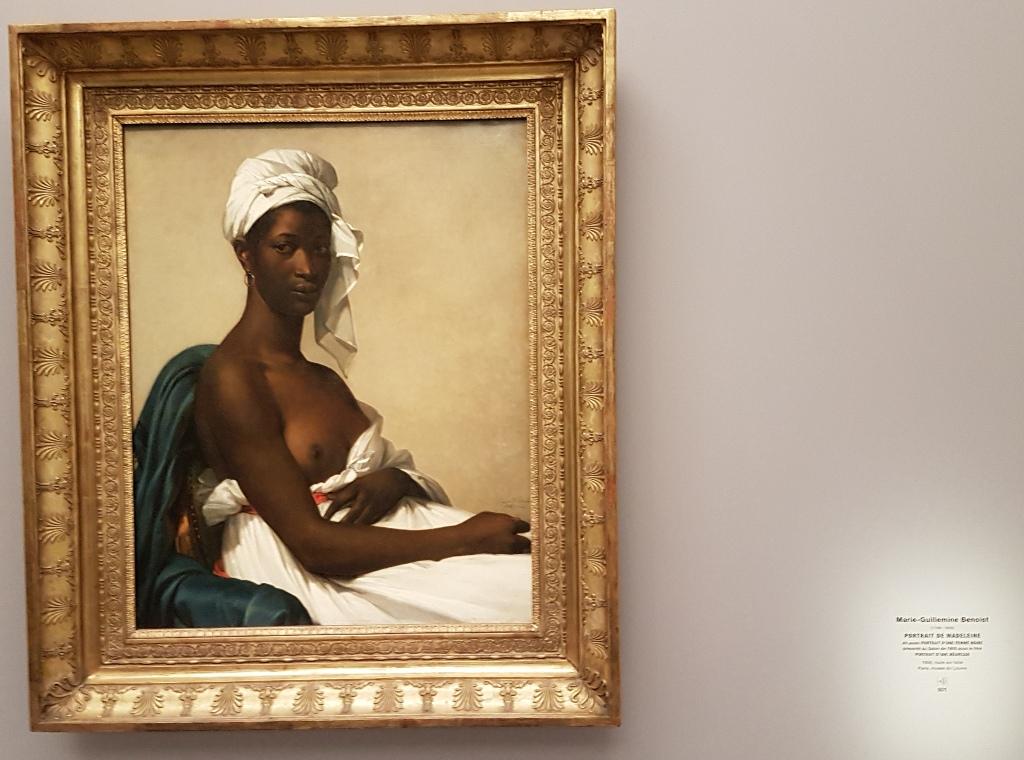"""Black Models: Marie-Guillemine Benoist, Portait de Madeleine. before""""Portrait D'une Negresse"""