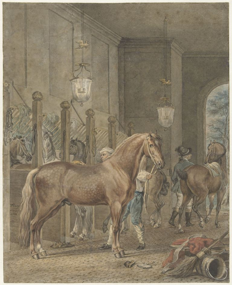 Stalinterieur, Tethart Philip Christian Haag, 1780 RP-T-1957-170