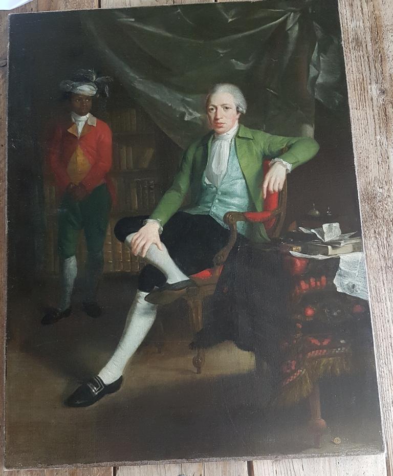 Adriaen de Lelie Jan Wichers en jonge bediende of slaaf