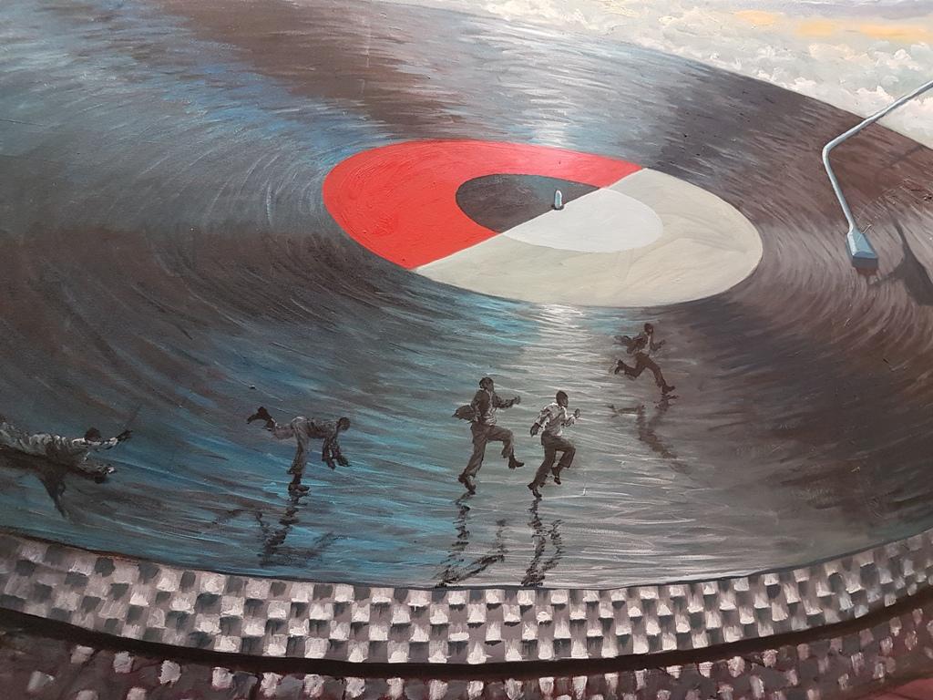 Ndikhumbule Ngqinamb, The Players, o/d, 163 x 250 cmi