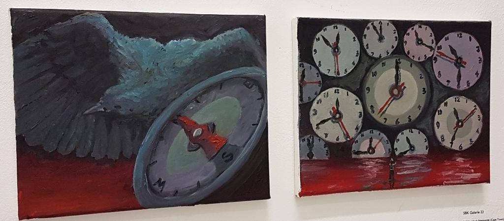 1: Heading, 2 : Time, o/d 20 x 25 cm