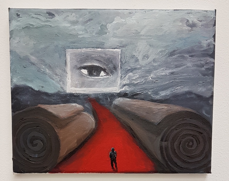 The teacher, o/d, 20 x 25 cm