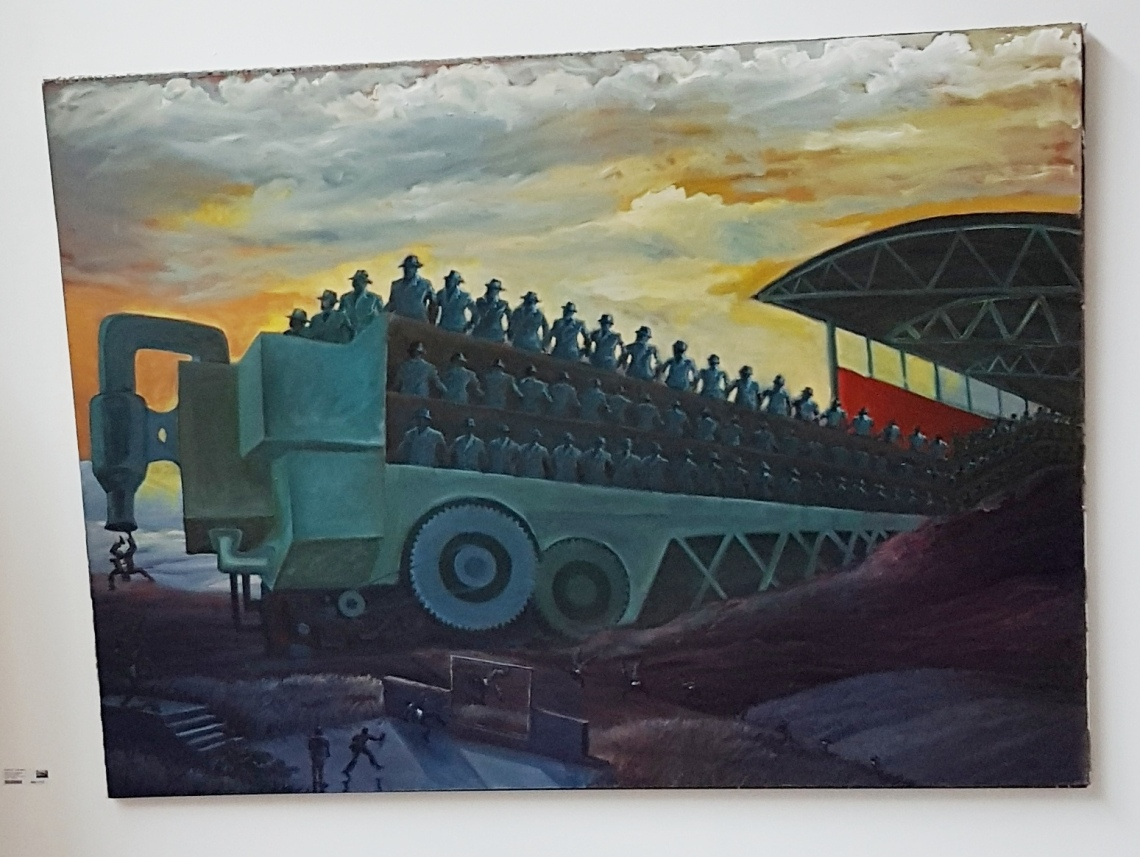 Ndikhumbule Ngqinambi, Making of Man, O/d 150 x 200 cm.