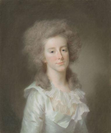 Frederica Louisa Wilhelmina (Louise; 1770-1819), prinses van Oranje-Nassau. Dochter van prins Willem V, echtgenote van Carel George August, erfprins van Brunswijk-Wolfenbüttel, Johann Friedrich August Tischbein, 1785 - 1795