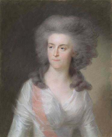 Frederika Sophia Wilhelmina (Wilhelmina; 1751-1820), prinses van Pruisen. Echtgenote van prins Willem V, Johann Friedrich August Tischbein, 1785 - 1795