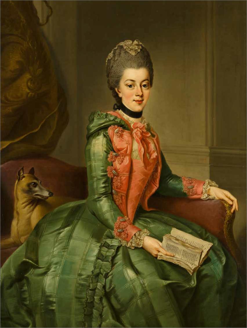 Wilhelmina van Pruisen door Ziesenis Mauritshuis.