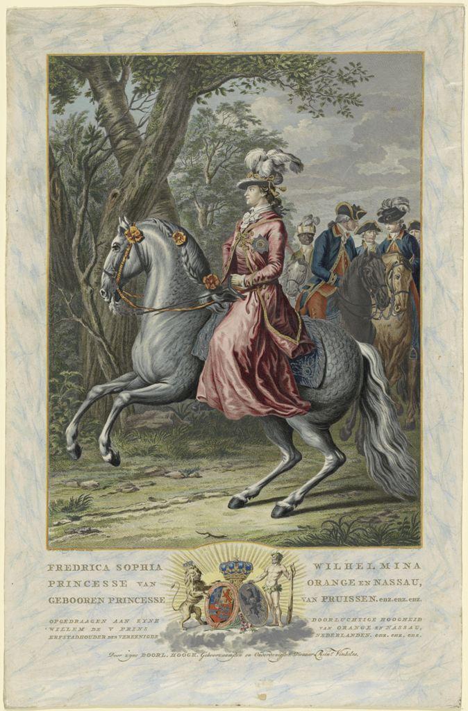 Ruiterportret Wilhelmina van Pruisen coll Rijksmuseum