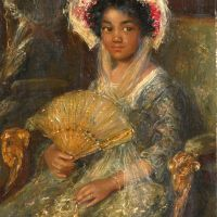 From the Black is beautiful. Rubens to Dumas catalogue: Young woman with hat