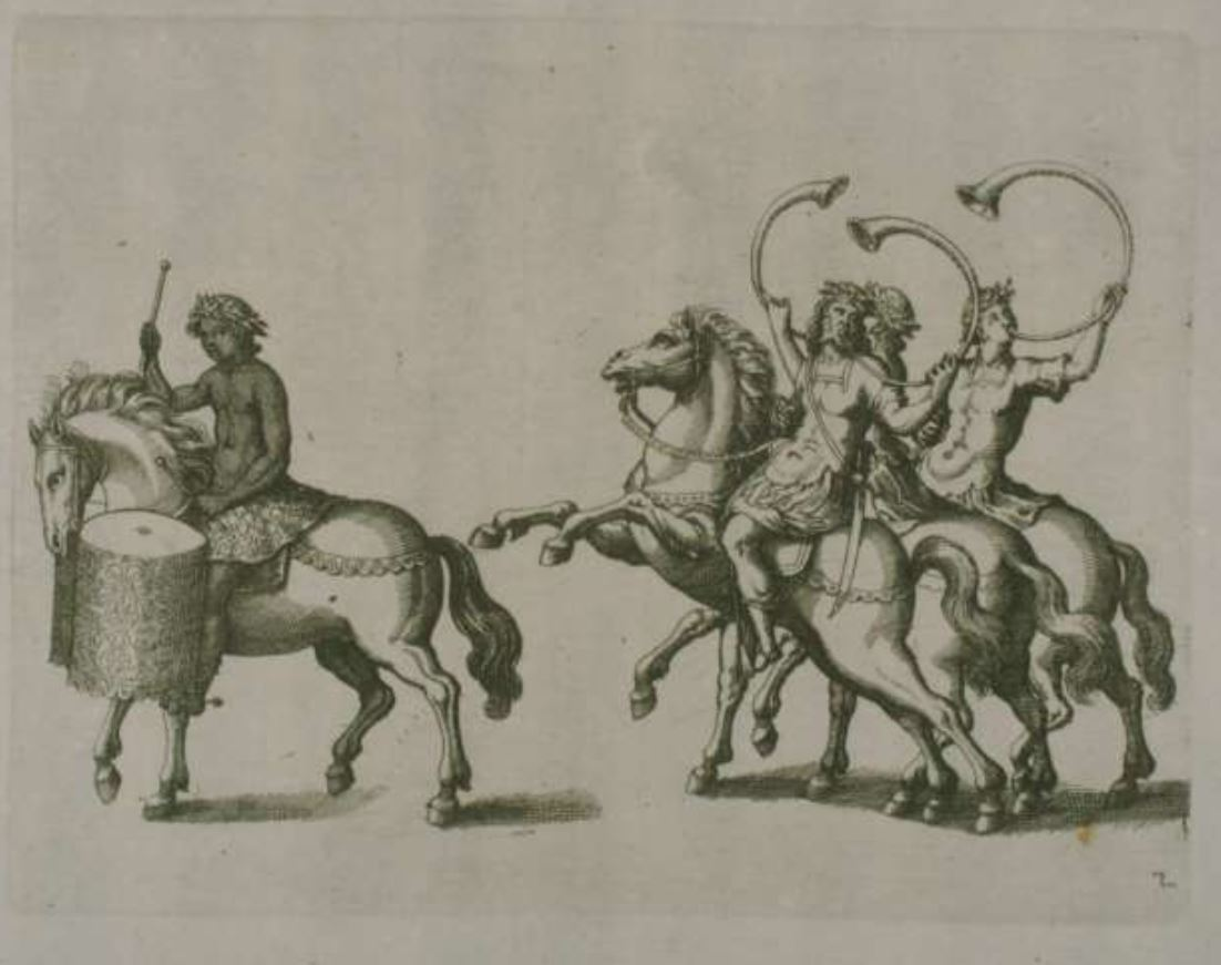 Ethiopian kettledrummer on horseback in his calvacade, a 'natural' natürlicher Ethiopian1617