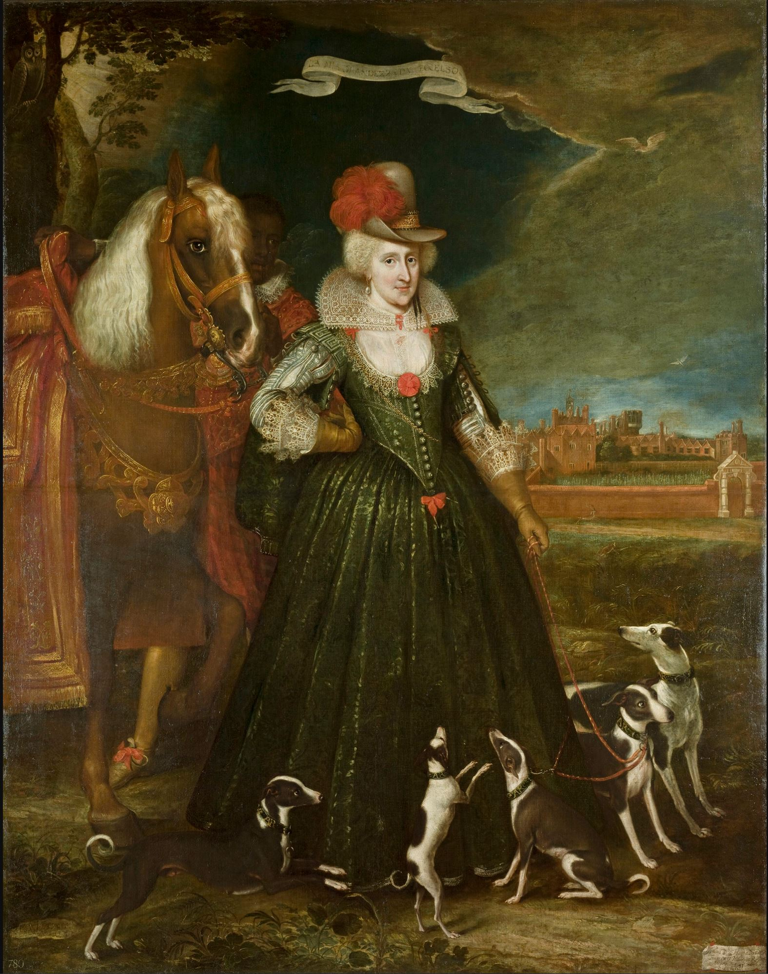 Paul van Somer, Anne of Denmark 1617. o/c 265,5 x 209, Royal Collection Trust.