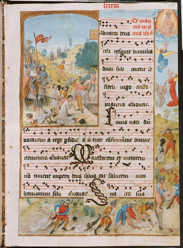 Anoniem, De Heilige Mauritius,, ca 1510, Missaal Liturgique de Bilzen, Koninklijke Bibliotheek Brussel